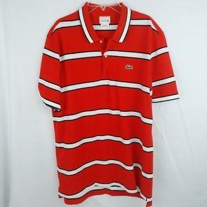 Lacoste Striped Polo size XL